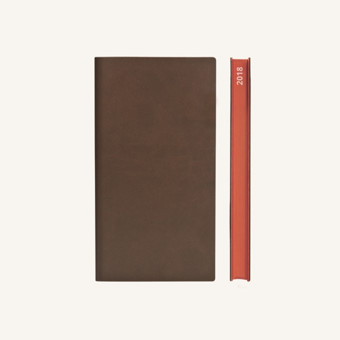 2018 Signature Diary – Pocket, Brown, Chinese version