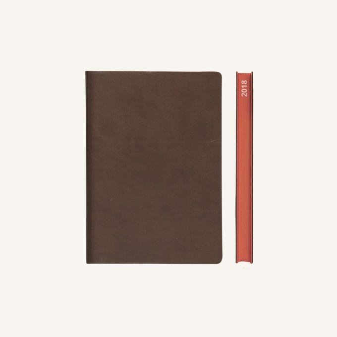 2018 Signature Diary – A6, Brown, Chinese version