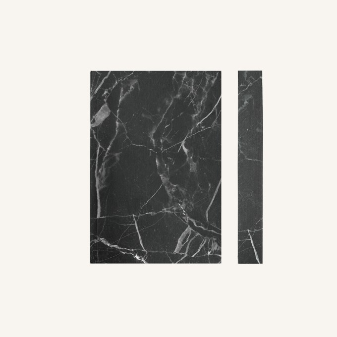 Slab Lined Notebook-A6, Nero Marble