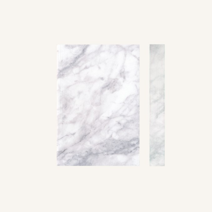 Slab Lined Notebook-A6, Statuario Marble