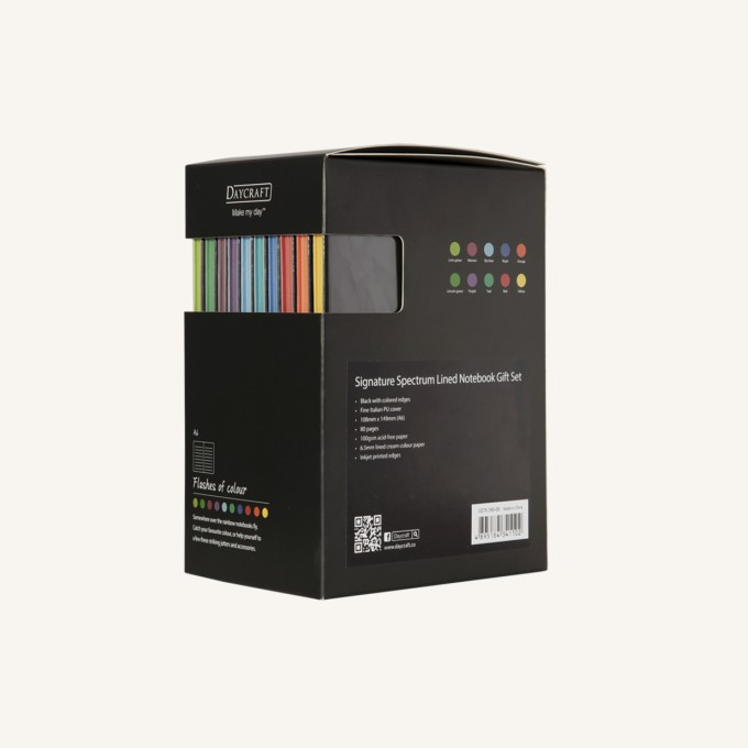 Signature Spectrum Lined Notebook - A6, Gift Set
