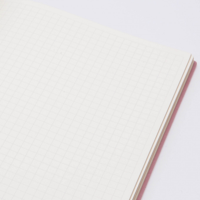 Signature Flat Geo Grid Notebook - A5, Grey