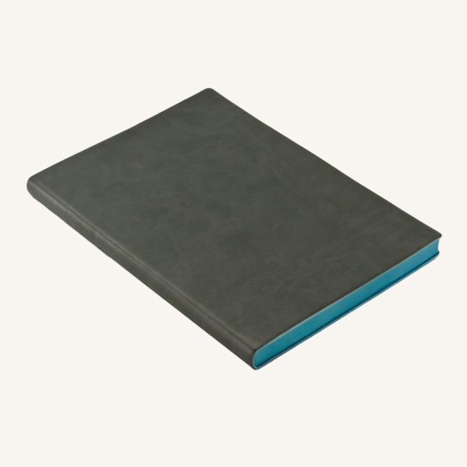 Signature Dotted Notebook - A5, Grey