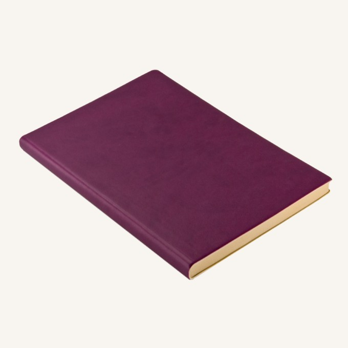 Signature Dotted Notebook - A5, Purple
