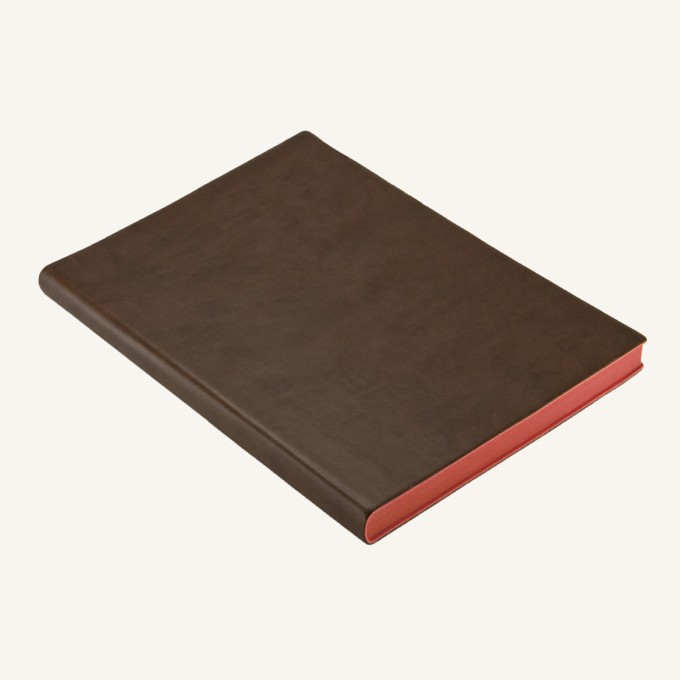 Signature Dotted Notebook - A5, Brown