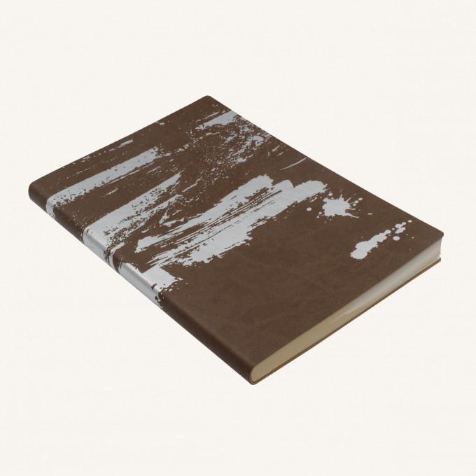 Signature Paint Art Plain Notebook - A5, Silver