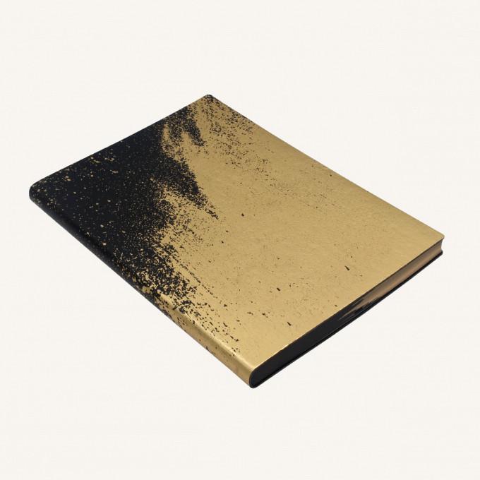 Signature Paint Art Plain Notebook - A5, Gold