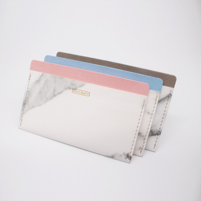 Marble Card Pocket - Pink