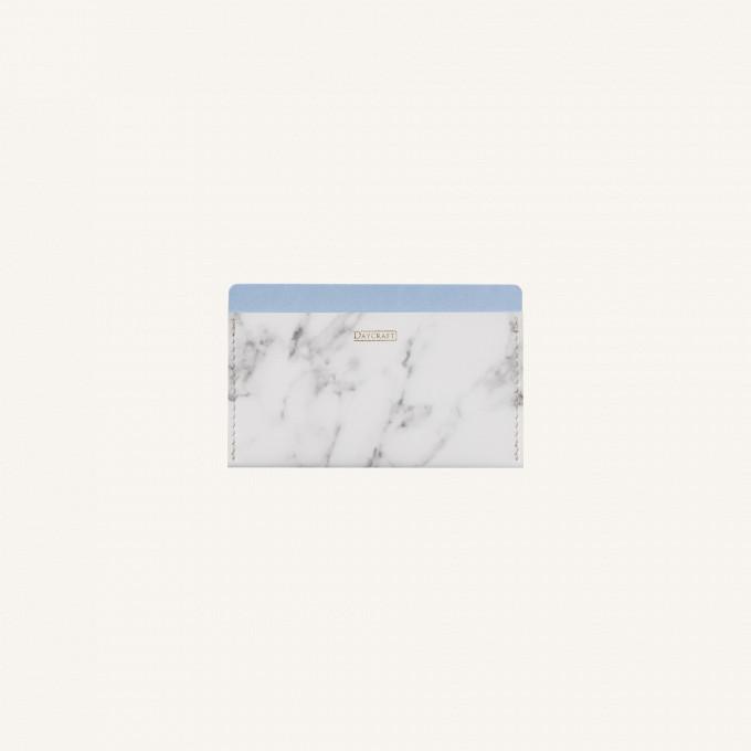 Marble Card Pocket - Sky Blue