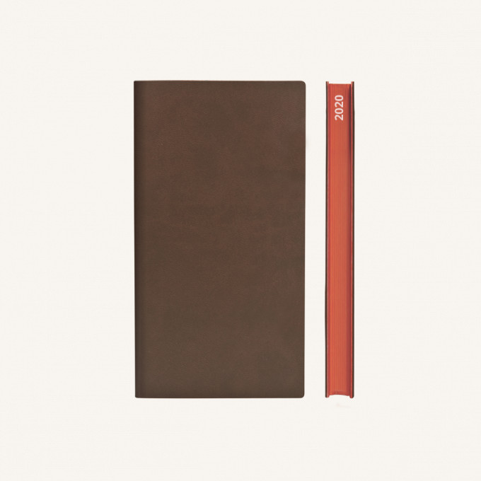2020 Signature Diary – Pocket, Brown, Chinese version