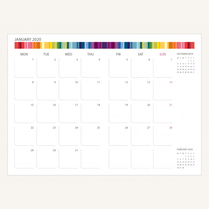 2020 旗艦色彩系列日記 – A6, 綠色, 英文版