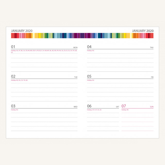 2020 Signature Chromatic Diary – A6, Green, English version