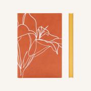 Signature Floral Doodles Plain Notebook - A5, Lily