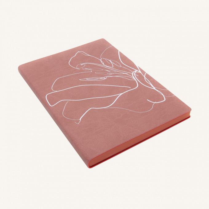 Signature Floral Doodles Plain Notebook - A5, Eustoma