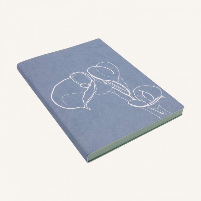 Signature Floral Doodles Plain Notebook - A5, Calla Lily