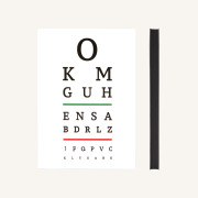 Signature Eye Chart Grid Notebook - A5, White