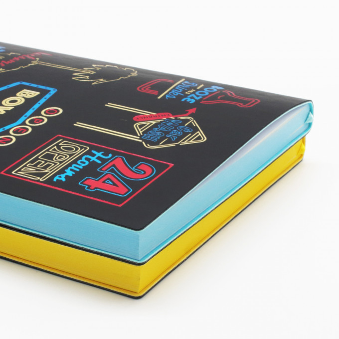 Signature Neon Lined Notebook - A5, Western Style
