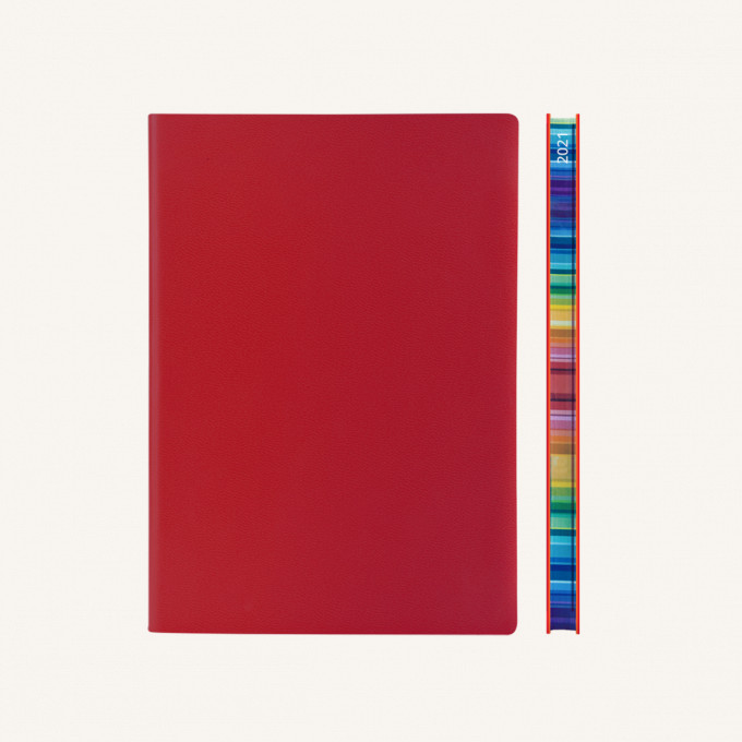 2021 Signature Chromatic Diary – A5, Red, English version