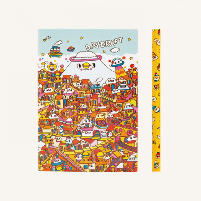 旗艦系列純白本Messy Desk特別版 - A5, 雲の夢想國