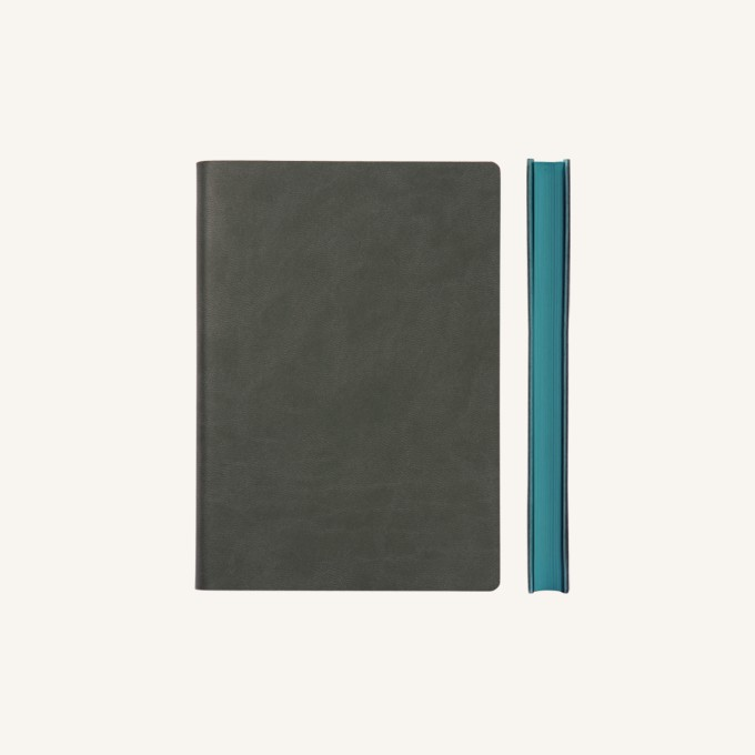 Signature Lined Notebook – A6, Grey