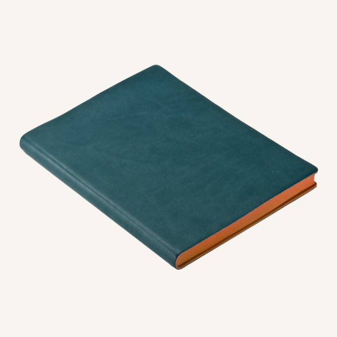 Signature Lined Notebook – A6, Green