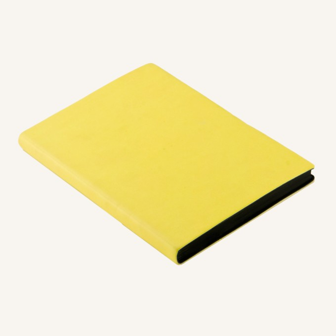 Signature Lined Notebook – A6, Yellow