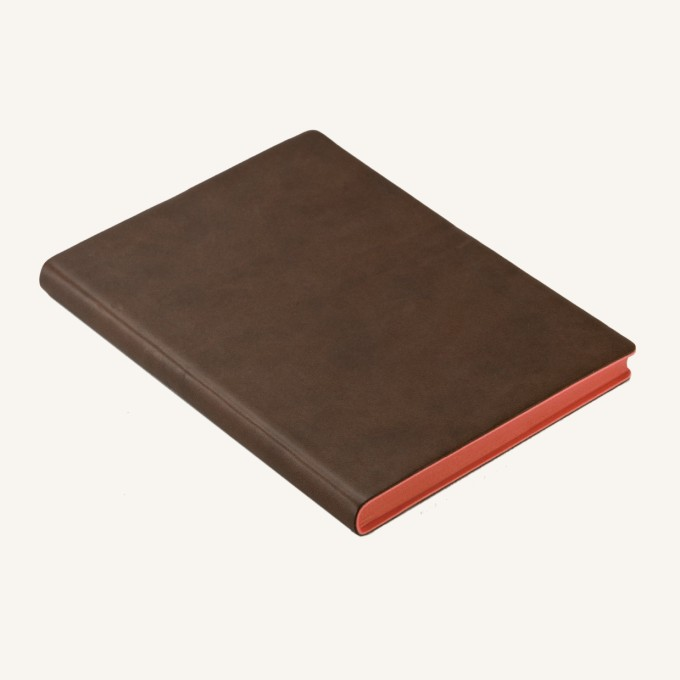 Signature Lined Notebook – A6, Brown