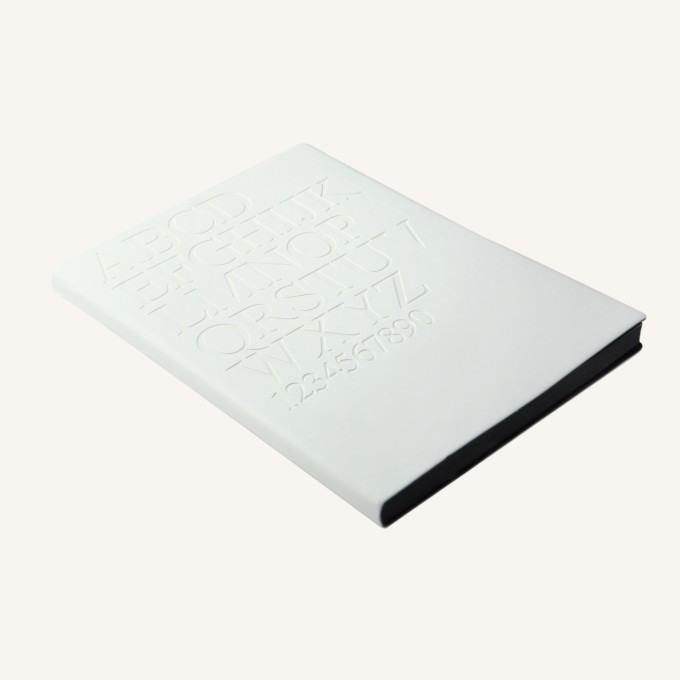 Signature Gutenberg Lined Notebook – A5, Times New Roman, White