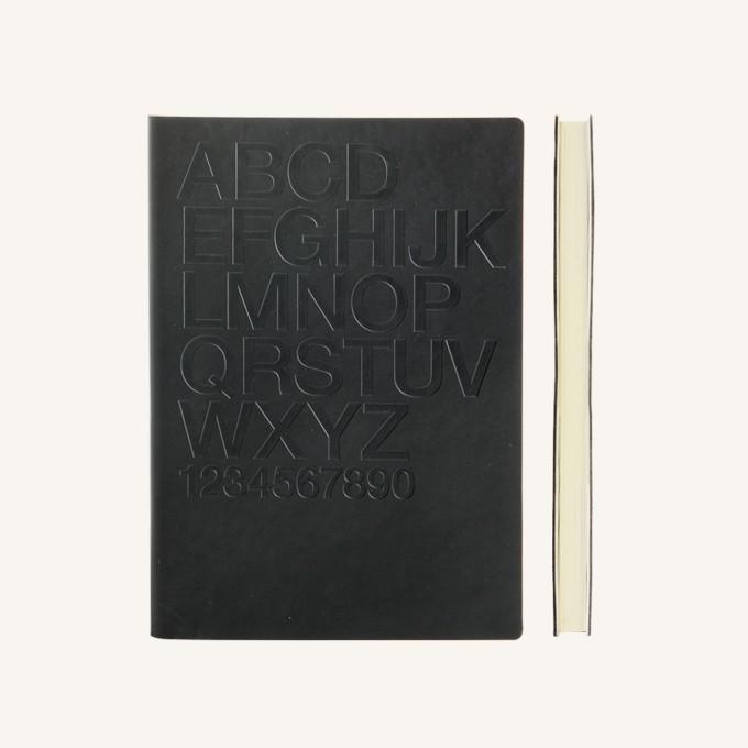Signature Gutenberg LIned Notebook – A5, Helvetica, Black