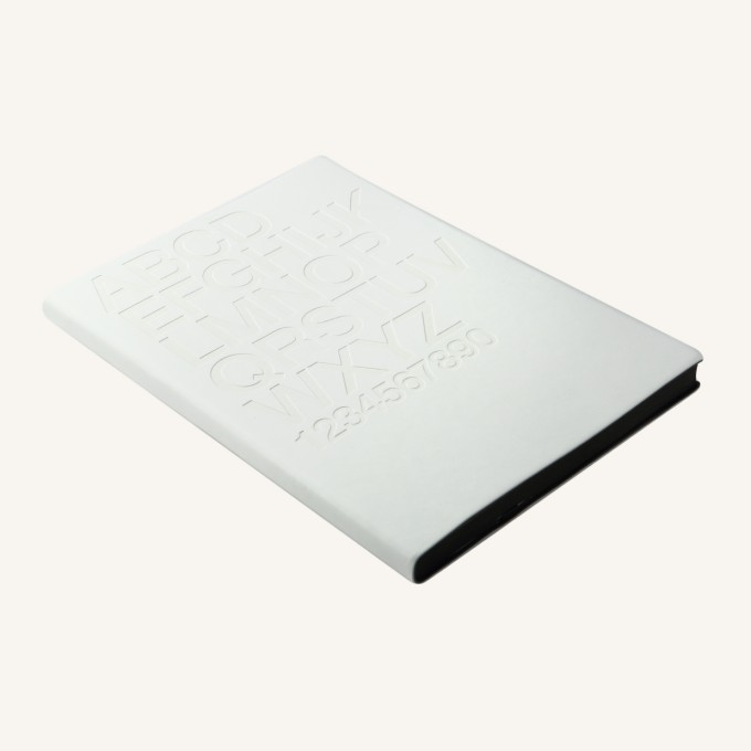 Signature Gutenberg Lined Notebook – A5, Helvetica, White