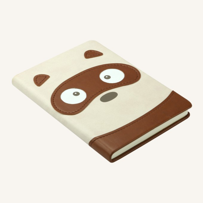 Animal Pals Lined Notebook – A6, Tanuki