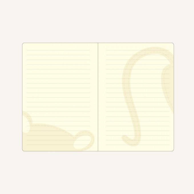 Animal Pals Lined Notebook – A6, Tanuki