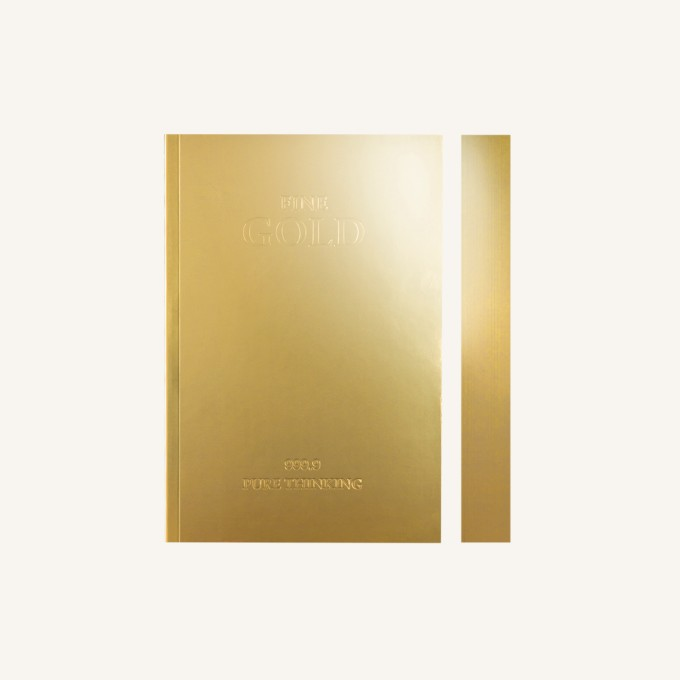 slab lined notebook  u2013 a6  gold