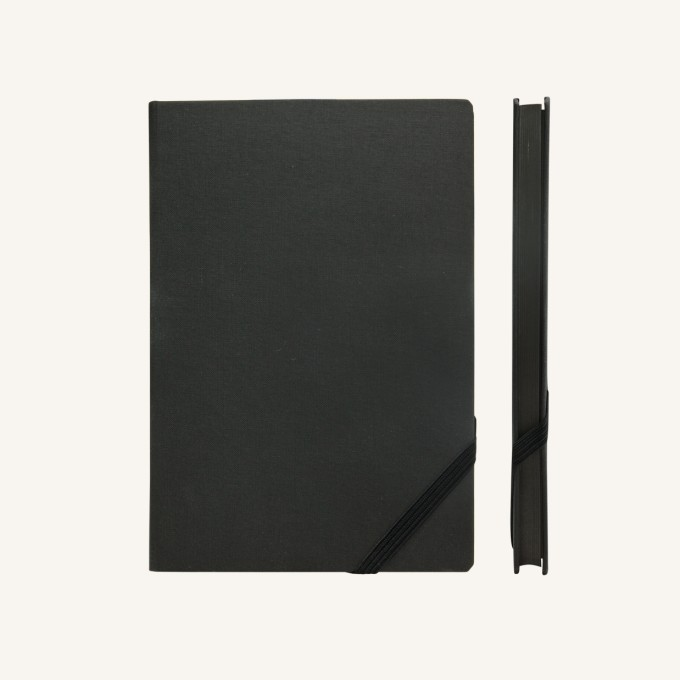 Make My Day Lined Notebook – A5, Black
