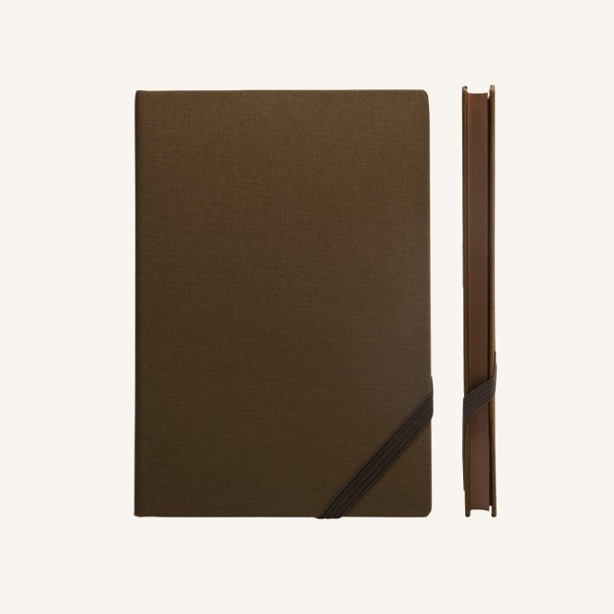 Make My Day Lined Notebook – A5, Brown