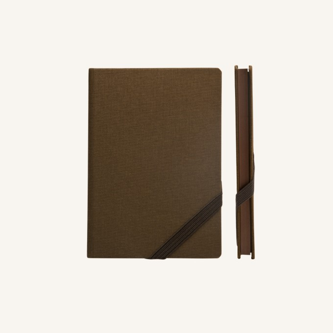 Make My Day Lined Notebook – A6, Brown