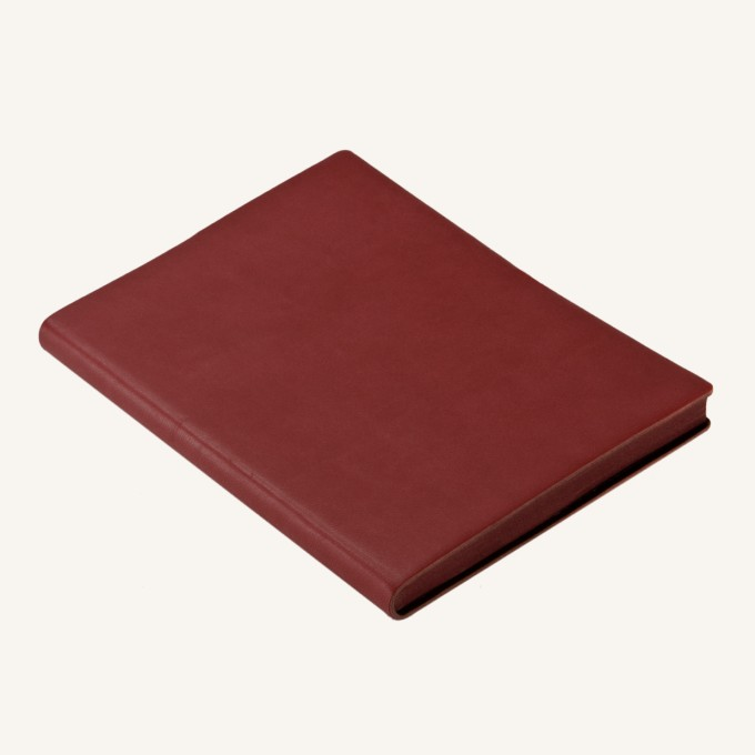Signature Plain Notebook – A6, Red