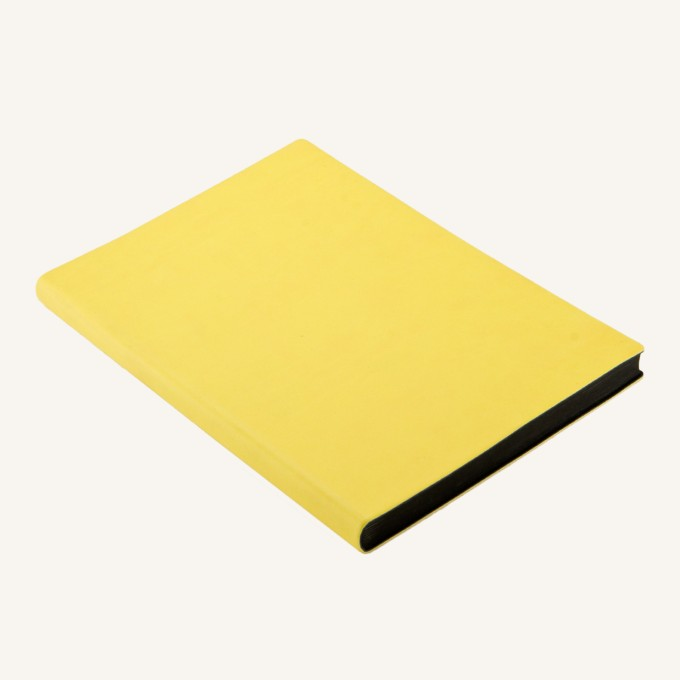 Signature Plain Notebook – A5, Yellow