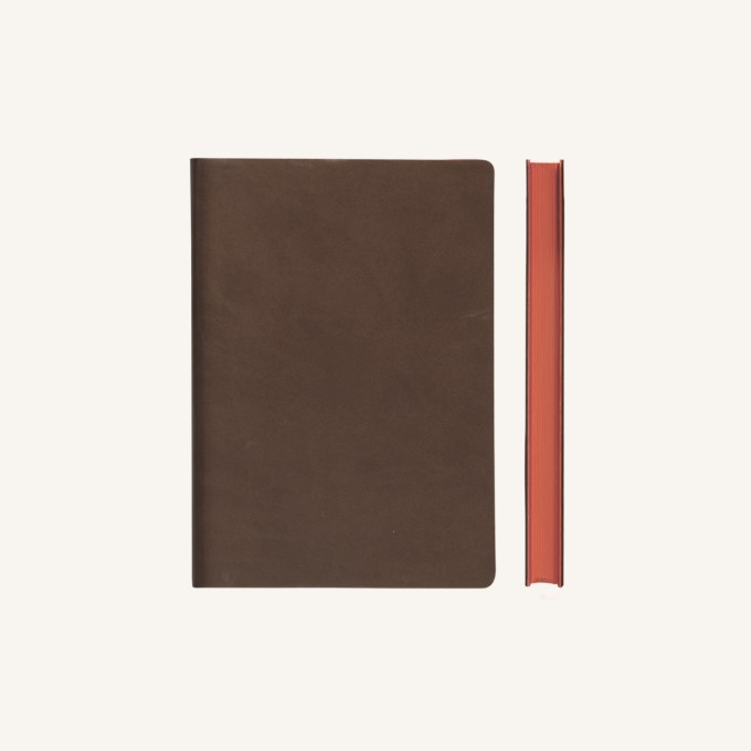 Signature Plain Notebook – A6, Brown