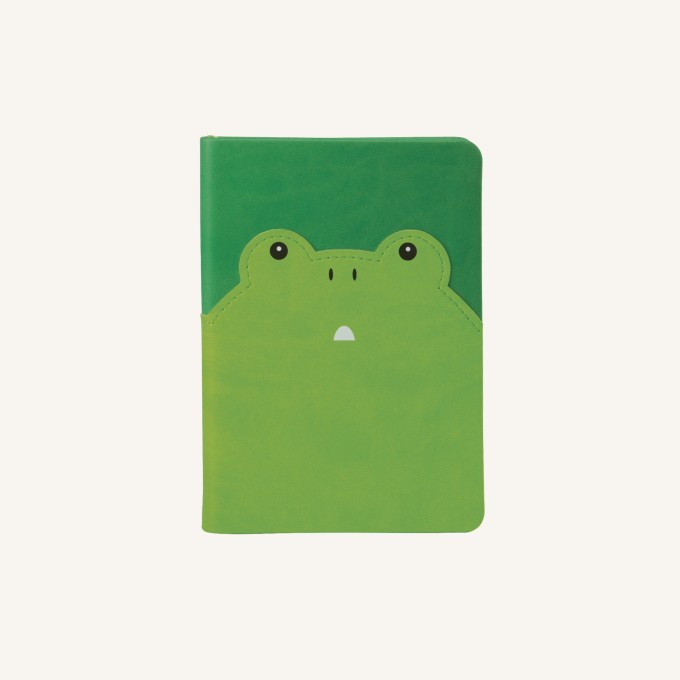Animal Pals Lined Notebook – A6, Frog