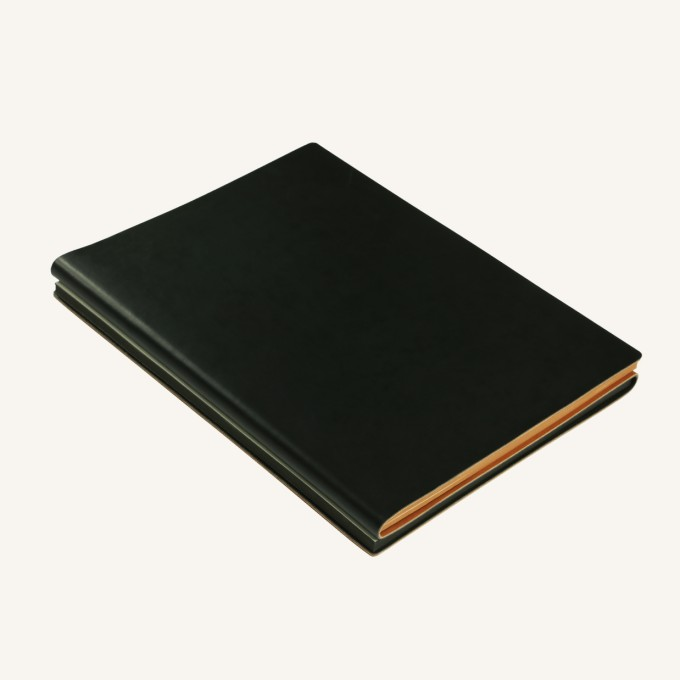Signature Duo Lined / Dotted Notebook – A5,  Black / Brown