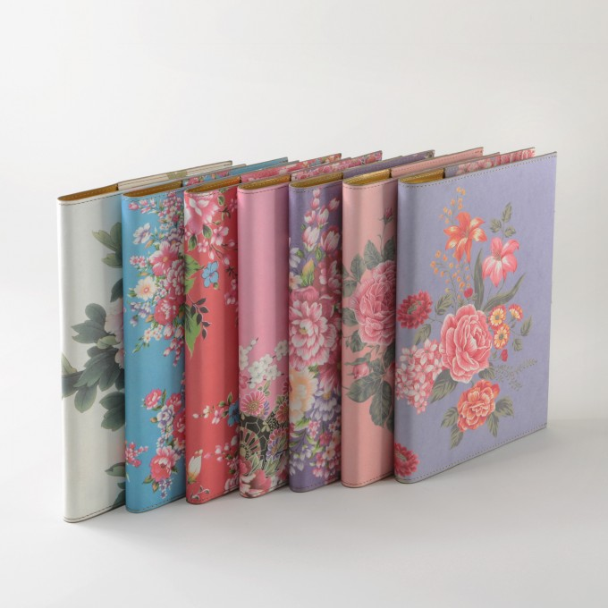 Flower Wow Lined Notebook – A5, Mauve