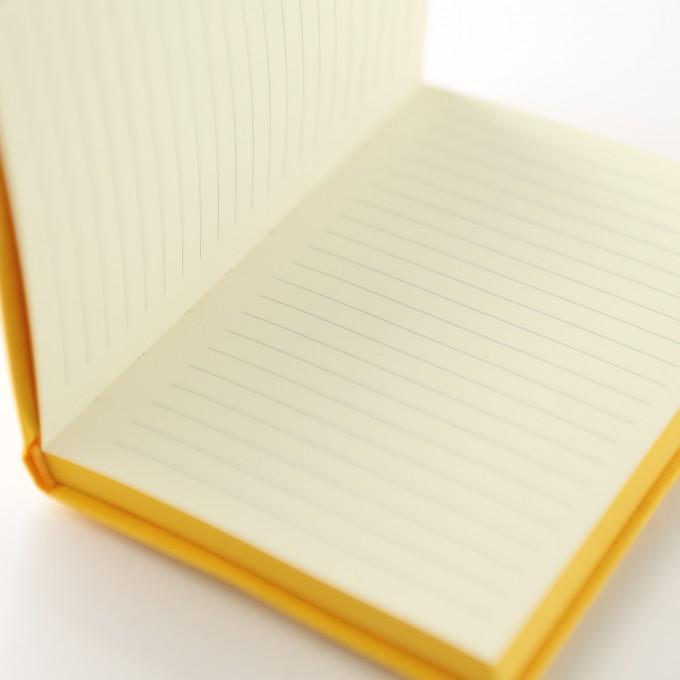 Make My Day Lined Notebook – A6, Yellow