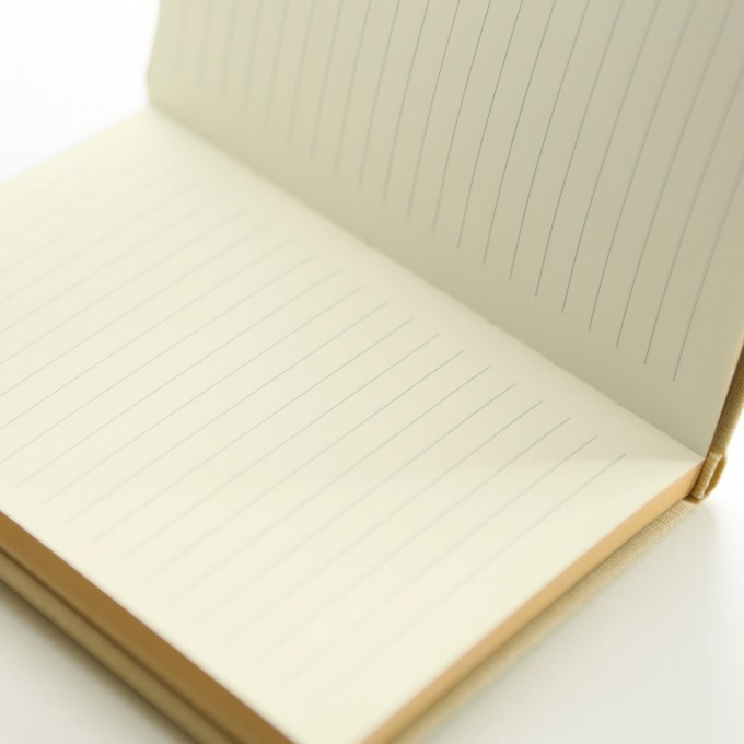 Make My Day Lined Notebook – A6, Apricot