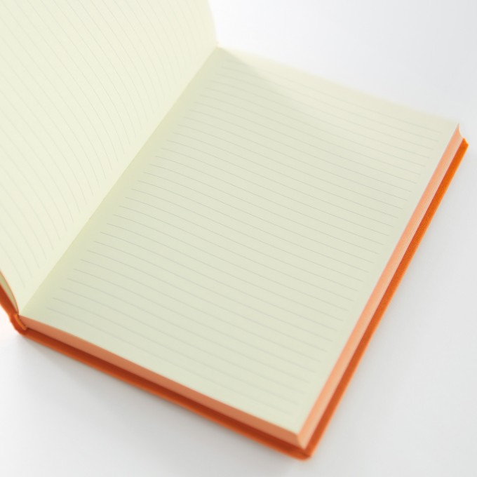 Make My Day Lined Notebook – A5, Orange