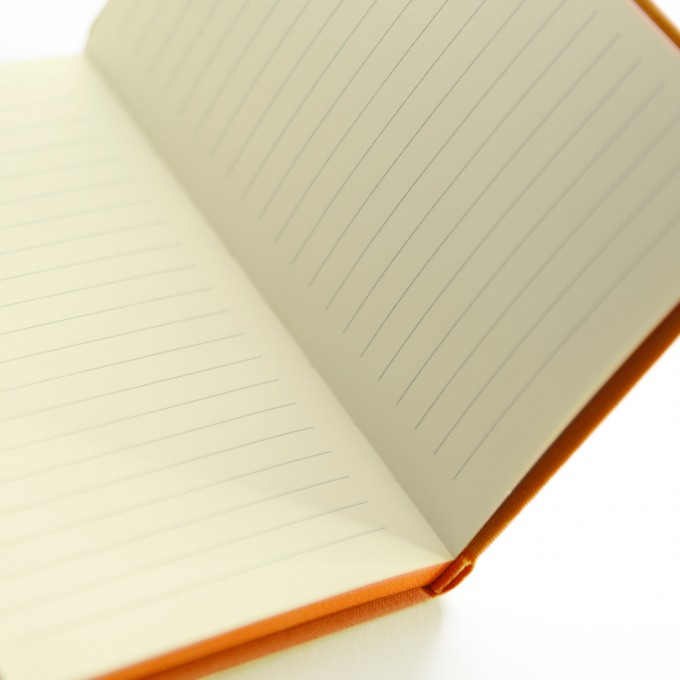 Make My Day Lined Notebook – A6, Orange