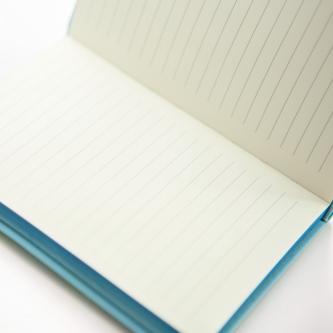 Make My Day Lined Notebook – A6, Sky Blue