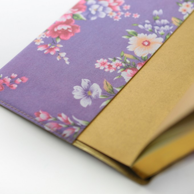 Flower Wow Lined Notebook – A5, Purple