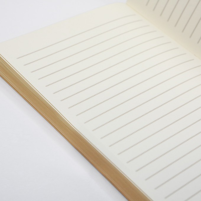 Slab Lined Notebook – A6, Gold