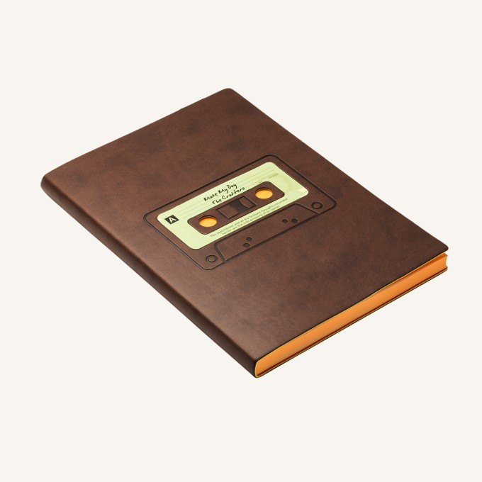 Signature Retro Plain Notebook – A5, Tape